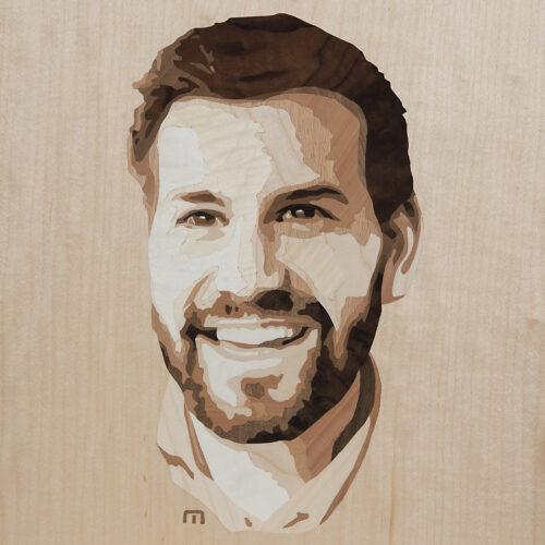 Intarsie Portrait Simon Tschann