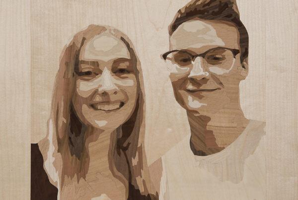Portraits Intarsie