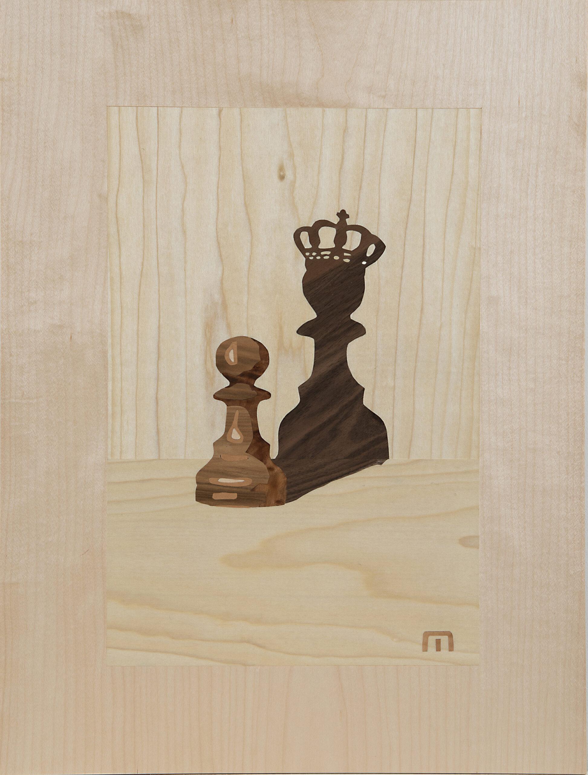Intarsie Schachfiguren