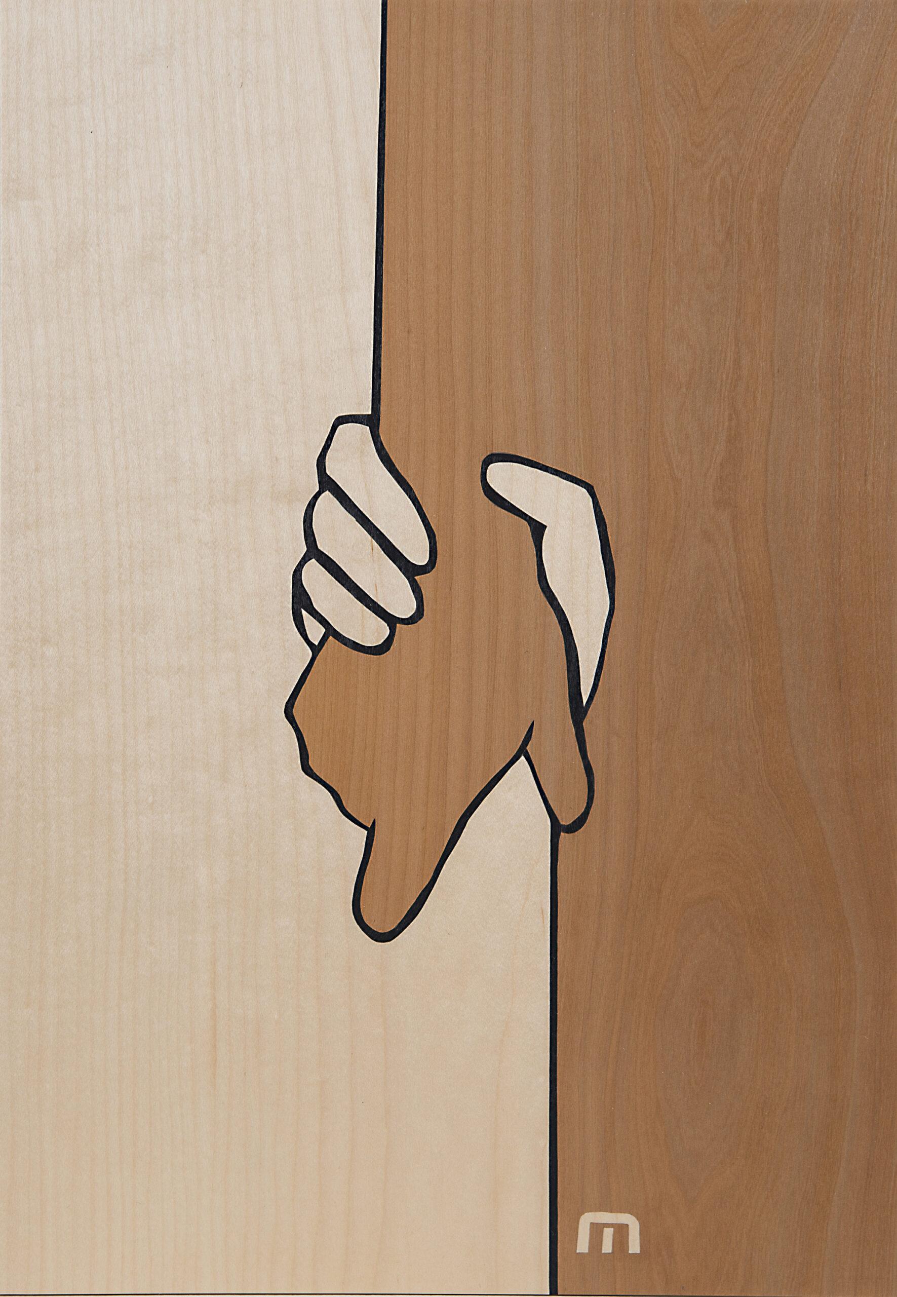 Intarsie Hand in Hand
