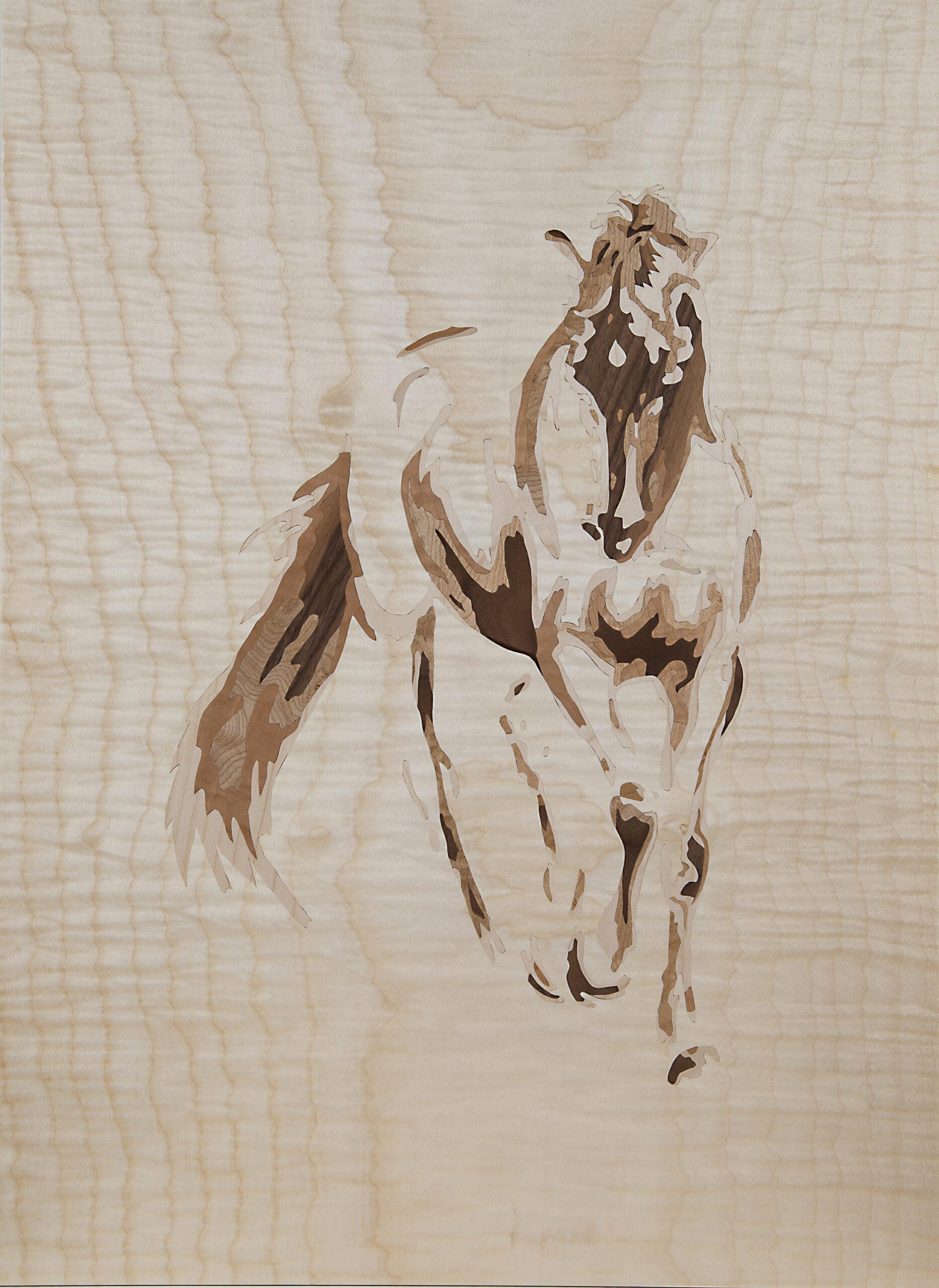 Intarsie Pferd