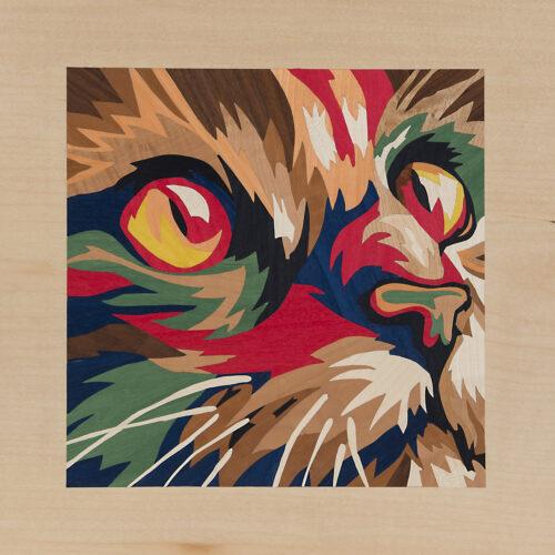 Intarsie Katzenkopf